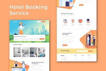 Hotel Booking and Travel - Website