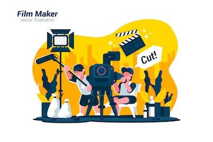 Film Maker - Vector Illustration