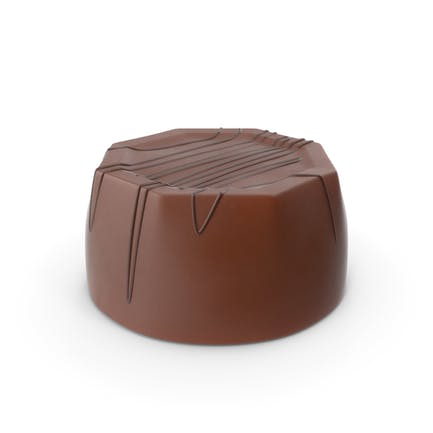 Cylinder Octagon Chocolate Candy With Chocolate Line