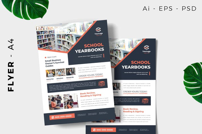 Thumbnail for Year Book Launching Flyer Design
