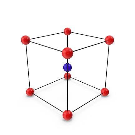 Estructura de celosía cúbica de cristal centrada en el Cuerpo