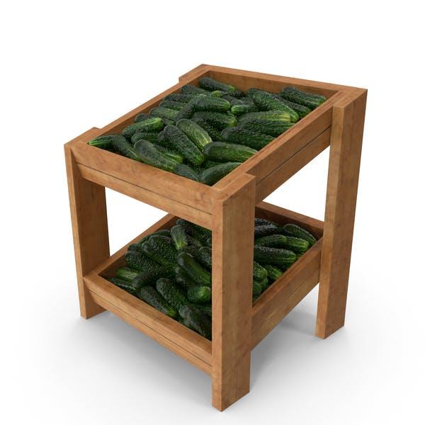 Shelf With Kirby Cucumbers