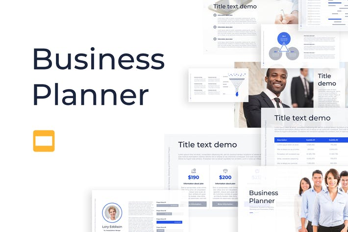 Thumbnail for Business Planner Google Slides