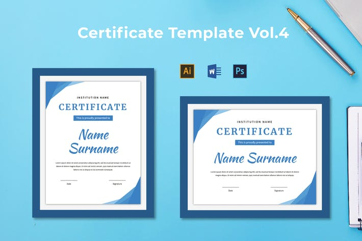 Thumbnail for Certificate Template Vol.4