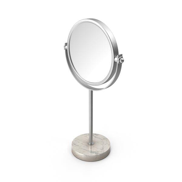 Silberner Marmor Standspiegel