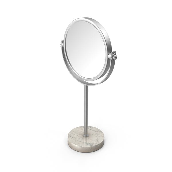Silver Marble Stand Up Mirror