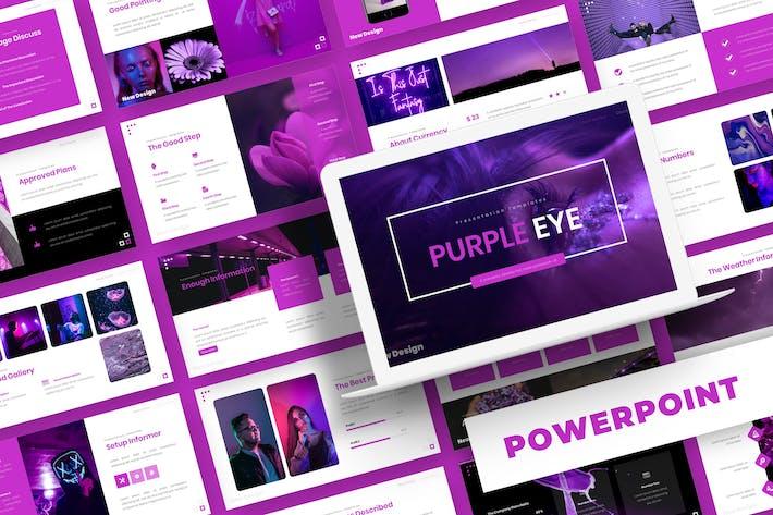 Thumbnail for Purple Eye - Powerpoint Template