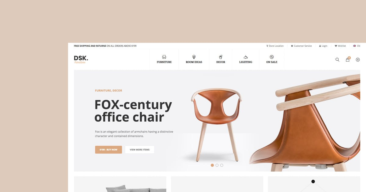 Download DSK - Furniture Store WooCommerce WordPress Theme by snstheme