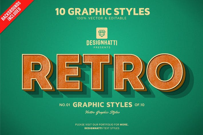 Thumbnail for Retro Vintage Text Styles