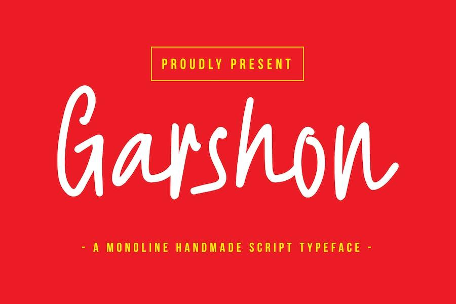 Garshon - A Monoline Handmade Script Typeface