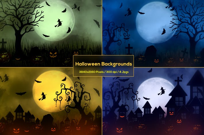 Thumbnail for Halloween Haunted House Backgrounds