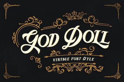 God Doll – Vintage Display Font