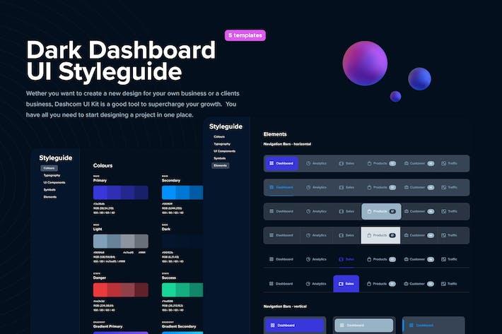 Dark  - Dashboard UI Styleguide