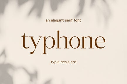 Typhone Elegante Con serifa