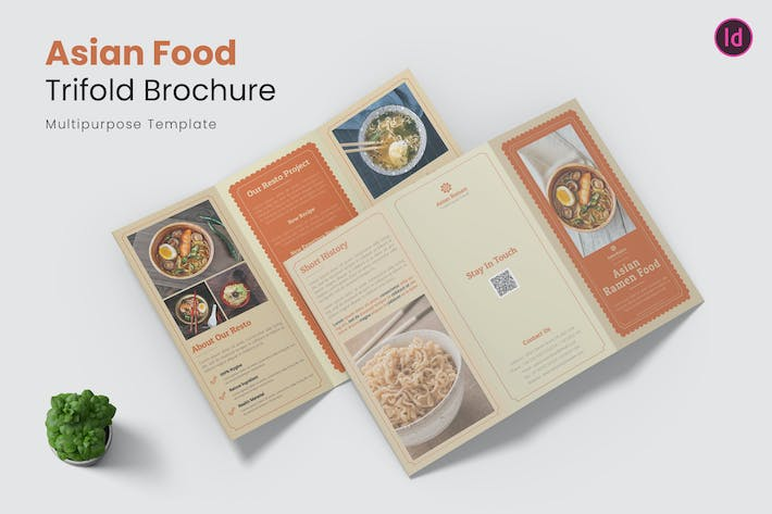 Thumbnail for Asian Food Trifold Brochure