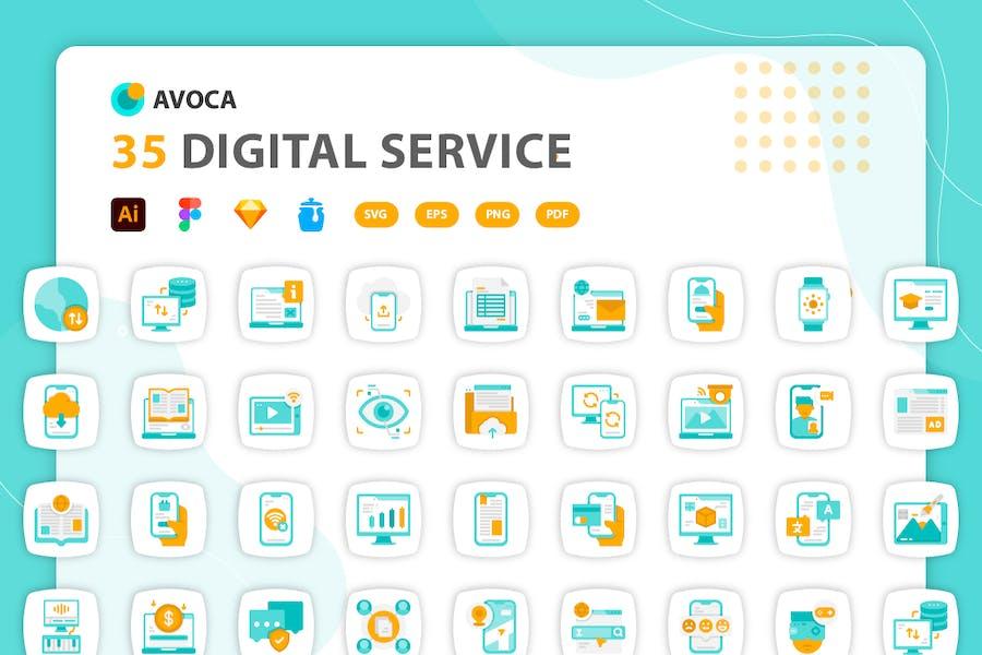 Avoca - Digitale Service-Icons