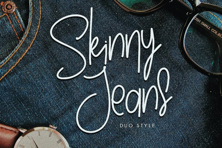 Thumbnail for Skinny Jeans - Fashion Handwriting Font