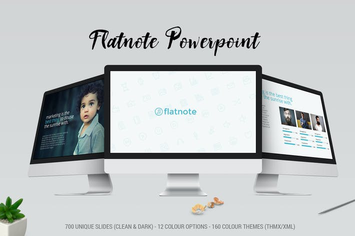 Thumbnail for Flatnote 2.0 PowerPoint Template