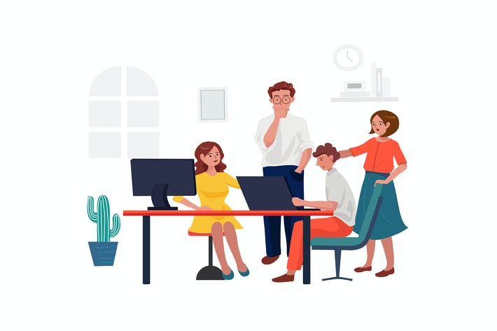Team work in office concept