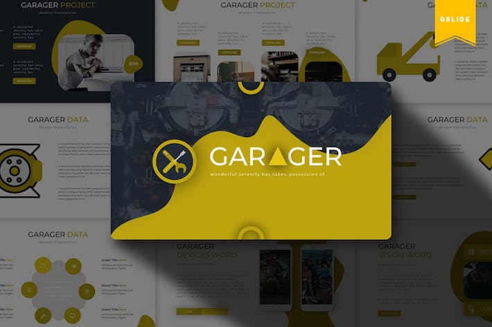 Cover Image For Garager| Google Slides Template