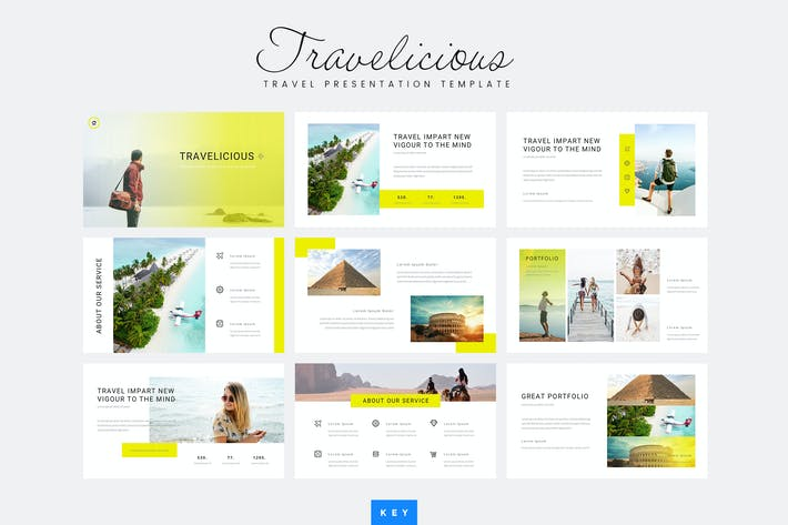 Thumbnail for Travelicious - Travel Keynote Template