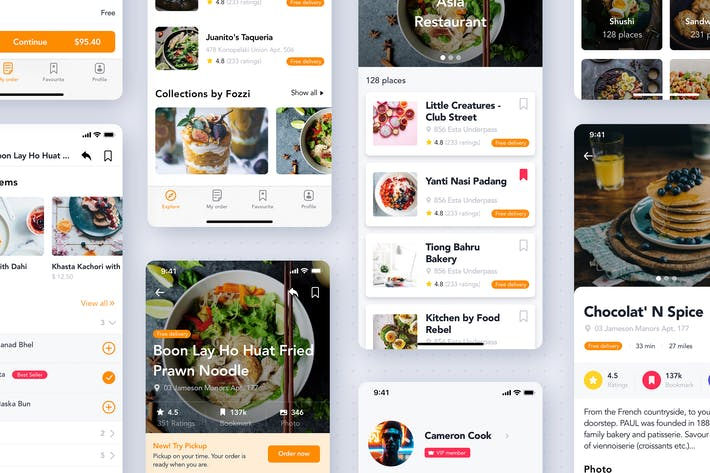Thumbnail for Food & Restaurant mobile UI Kit
