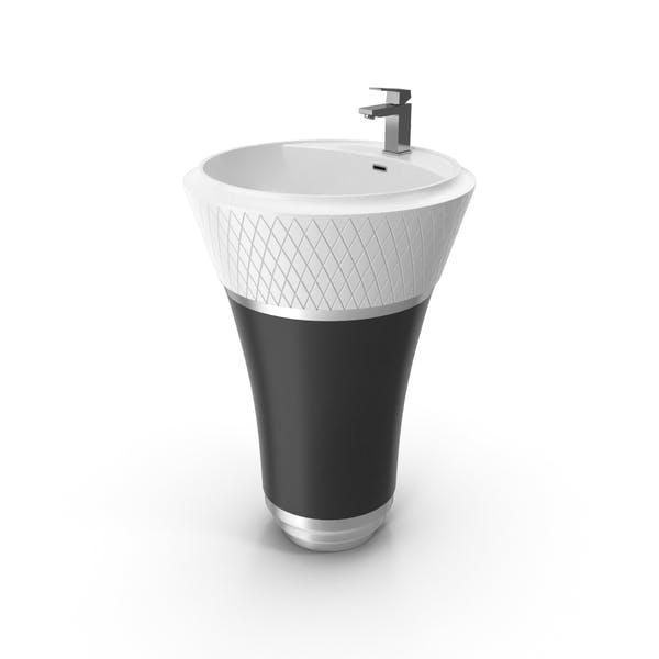 Freestanding Art Deco Washbasin Flaper George