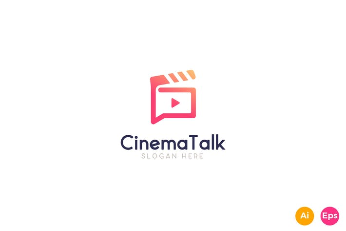 Thumbnail for Cinema Talk Show Logo Template
