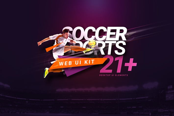 Thumbnail for Soccer Sports Club Web UI Kit