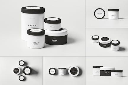 Cosmetic Jars Mock-up