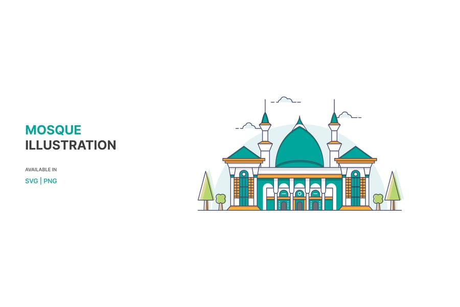 Mosque Illustration - Vector style