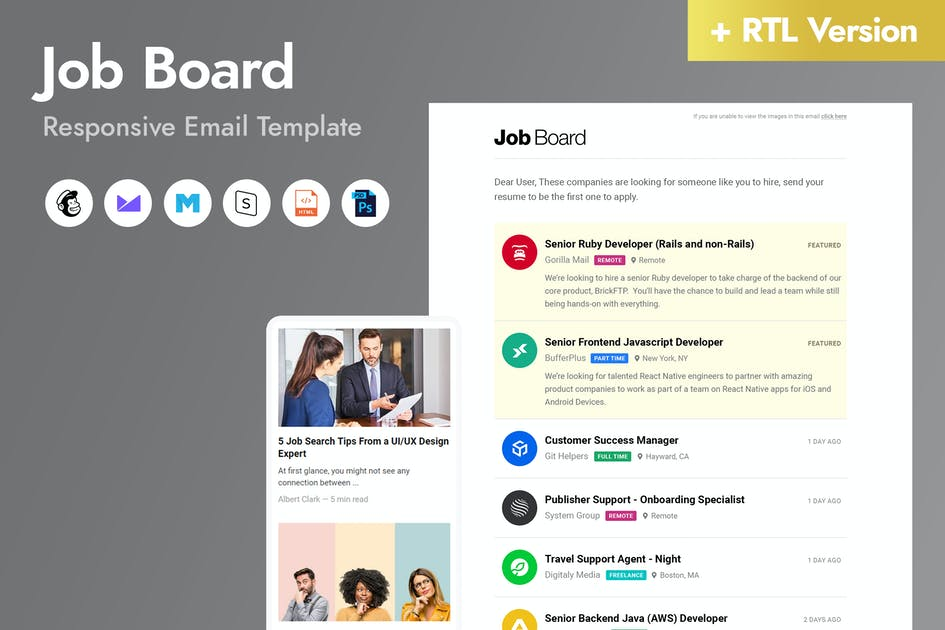 Download Job Board Email Template by HyperPix
