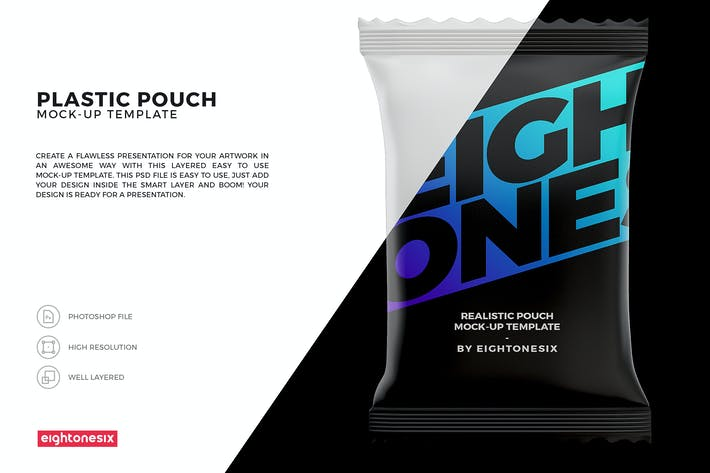 Thumbnail for Snack Pouch Mock-Up Template