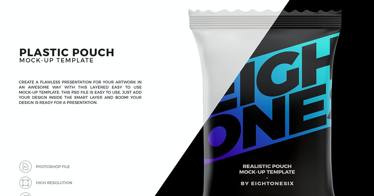 Download Snack Pouch Mock-Up Template by EightonesixStudios