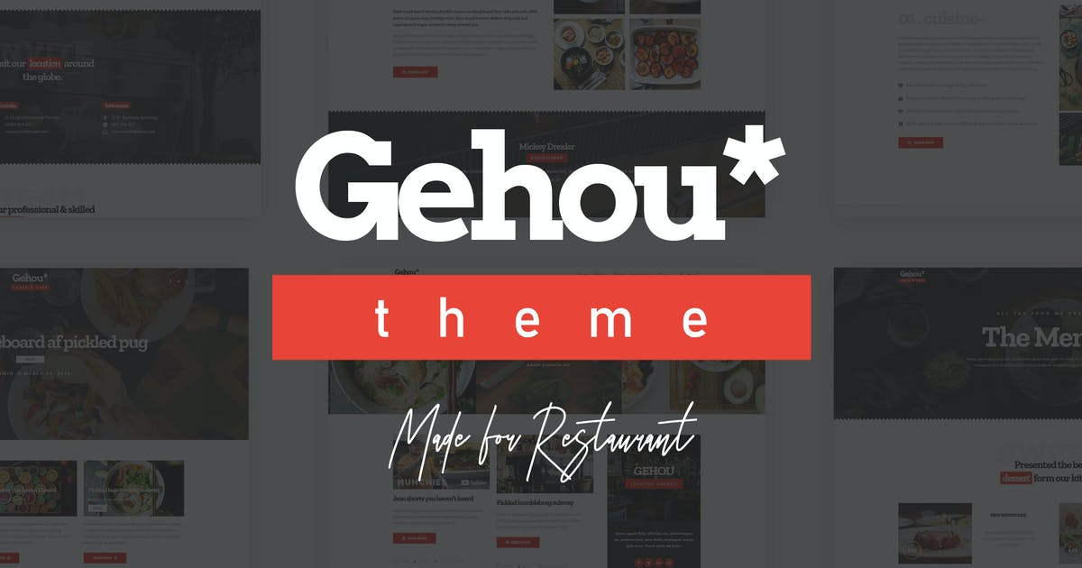 Download Gehou - A Modern Restaurant & Cafe Theme by ridianur