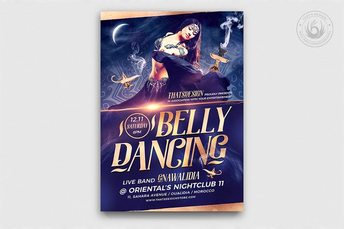 Thumbnail for Belly Dancing Flyer Template V2