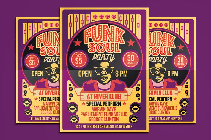 Thumbnail for Funk Soul Party Flyer Poster