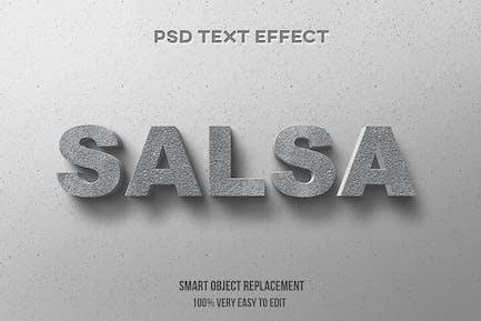 Efecto de texto concreto realista