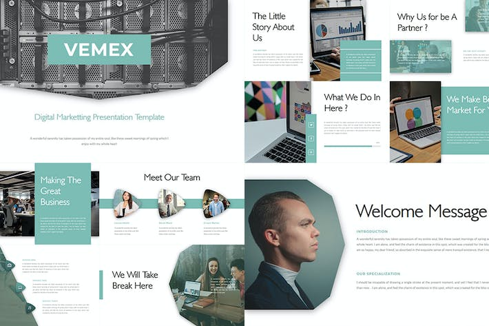 Thumbnail for Vemex – Digital Marketting Keynote Template