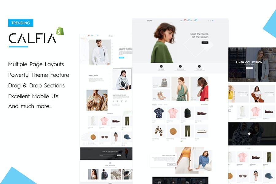 Calfia - Мода Многоцелевой Shopify Тема