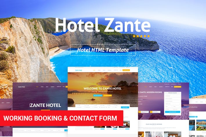 Thumbnail for Hotel Zante - Hotel HTML Template