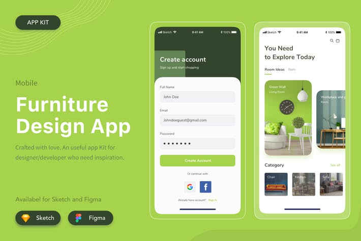 Thumbnail for Furniture Mobile App Design