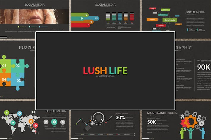 Thumbnail for LUSH LIFE Google Slides