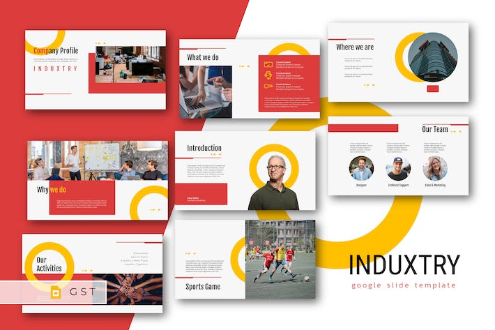 Thumbnail for INDUXTRY - Company Profile Google Slides Template