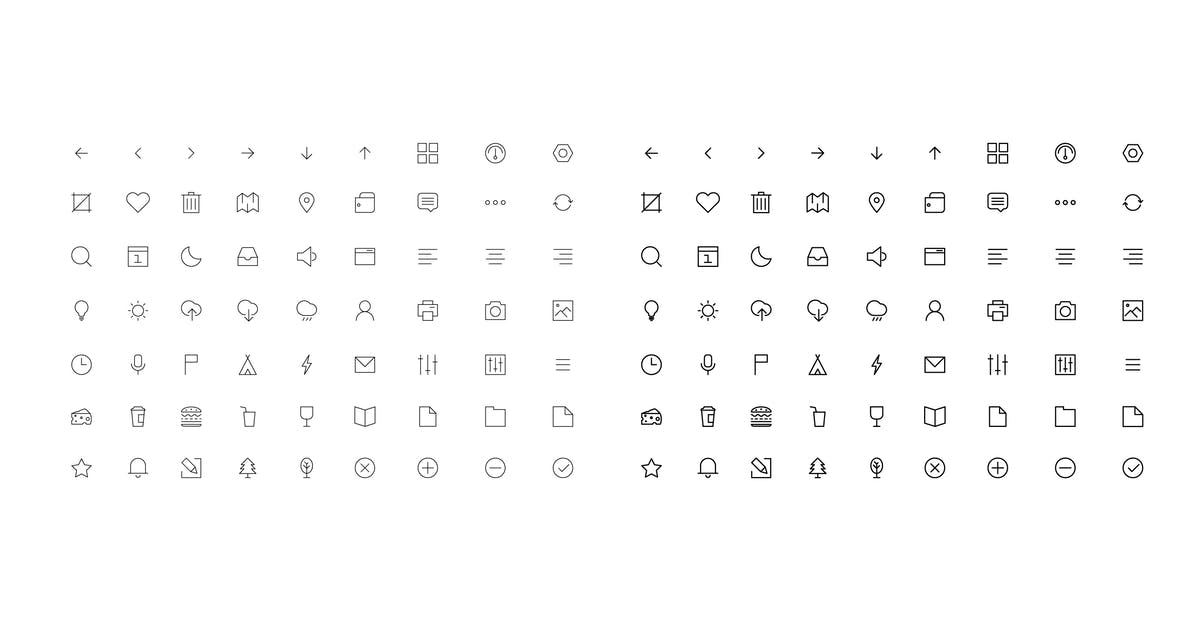 vector icon set by fet