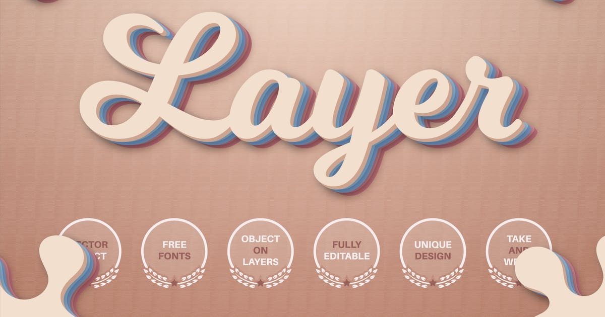 Download Layers - editable text effect, font style by rwgusev