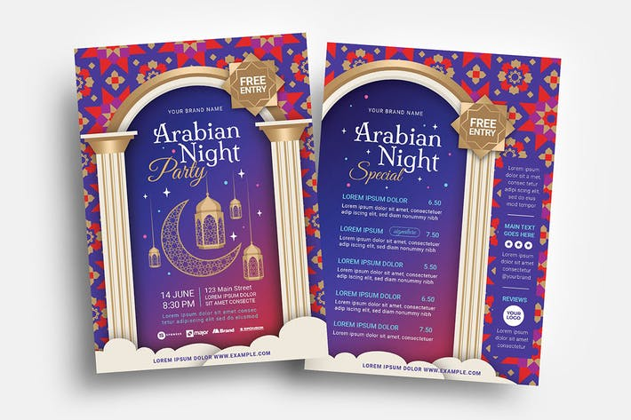 Arabic Flyer Templates