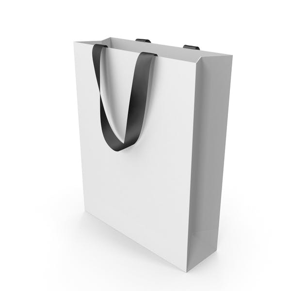 Thumbnail for White Packaging Bag with Black Handles