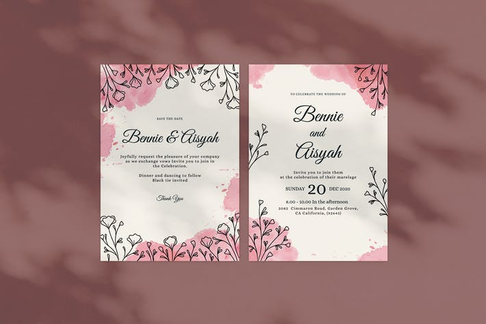 Thumbnail for Floral Wedding Invitation