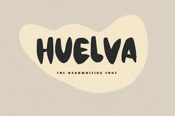 Thumbnail for Huelva - Une police d'écriture manuscrite